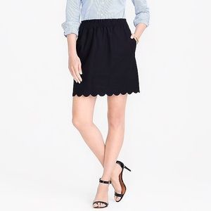J. Crew Black Scalloped Sidewalk Skirt Size 6 BNWT